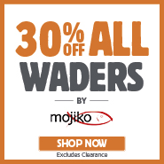 30% Off All Mojiko Waders