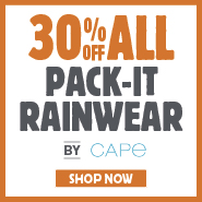 30% Off All Pack-It Rainwear By Cape