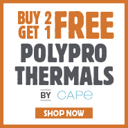 Buy 2 Get 1 Free Polypro Thermals By Cape