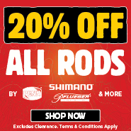 20% Off All Rods
