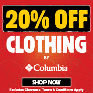 20% Off All Columbia Clothing