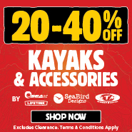 20% To 40% Off Kayaks & Accessories