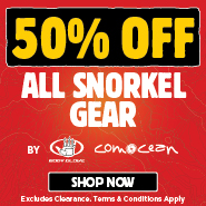 50% Off All Snorkel Gear