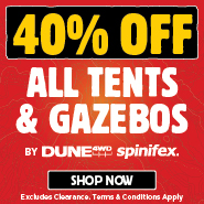 40% Off All Tents & Gazebos