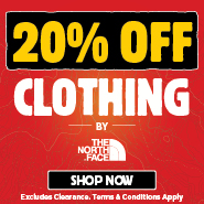 20% Off All The North Face Clothing