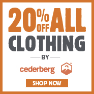 20% Off All Clothing By Cederberg