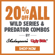 20% Off All Wild Series & Predator Combos By Shakespear & Ugly Stik