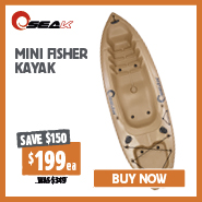 Save $150 Mini Fisher Kayak
