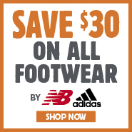 Save $30 On All Footwear By New Balance & Adidas