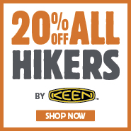 20% Off All Hikers By Keen