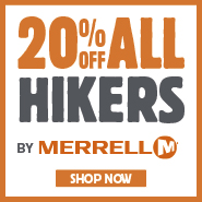 20% Off All Hikers By Merrell