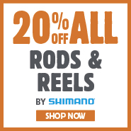 20% Off All Rods & Reels By Shimano