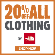 20% Off All Clothing By The North Face