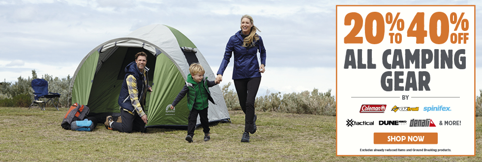 20% To 40% Off All Camping Gear