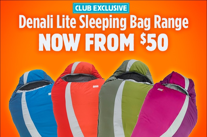 Club Exclusive Denali Lite Sleeping Bags From $50