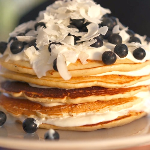 Fluffy Blueberry Pancake Recipe